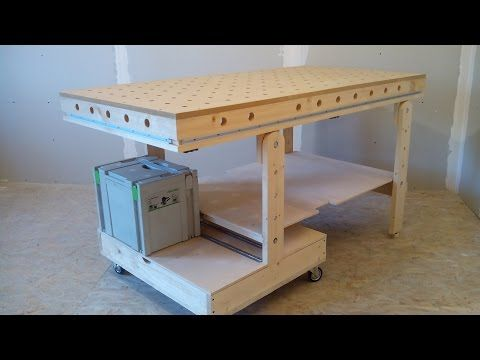 Рабочий стол для мастерской (workbench for workshop) - YouTube