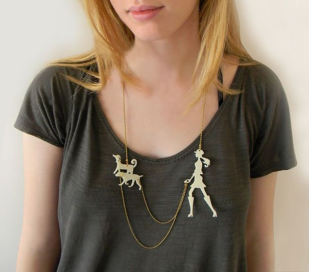 My Dog walker necklace made it to the 22 most creative necklace designs ever!!  https://www.etsy.com/il-en/listing/87606729/red-dog-walker-necklace-a-walk-in-the