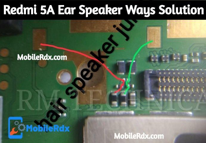 Redmi 5A Ear Speaker Ways Earpiece Problem Jumper Solution
