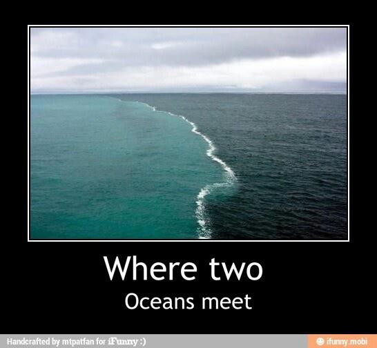 2 different oceans meet