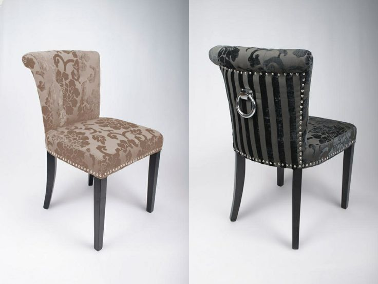 Sandringham Stripe U0026 Scroll Knocker Dining Chairs #knockerchairs #dining