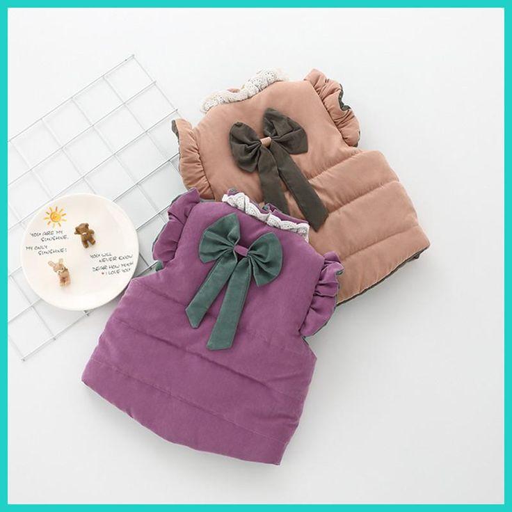 2018 New Year gift Cotton Baby Vest Bebe Girls Clothing Butterfly-Knot Princess Vestimenta Khaki Lace Fashion Kids Clothes