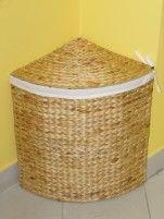 Indo prádelní koš - rohový - vodní hyacint