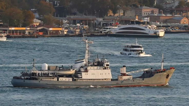A Russian naval intelligence ship was evacuated and sank off the coast of Turkey after colliding with a vessel carrying livestock, according to Turkish officials, in a dense fog. Matthew Larotonda reports.