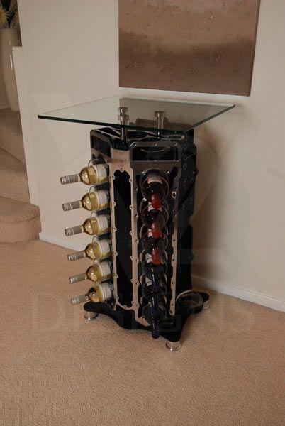 engine block wine rack Google Search A little sunshine