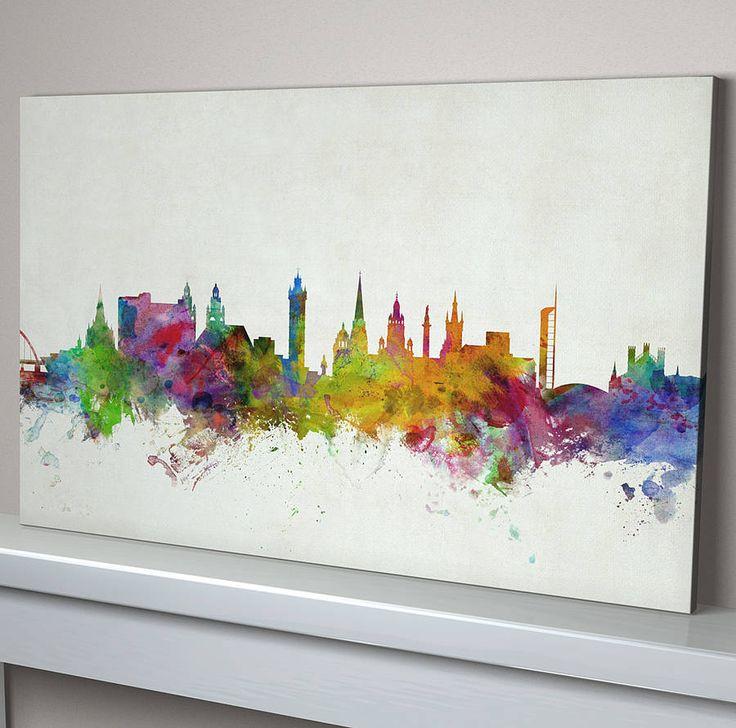 glasgow city skyline print by artpause   notonthehighstreet.com