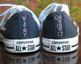 Custom Wedding Converse, SHOES NOT INCLUDED, Custom Converse, Custom Chuck Taylors, Custom Bride Sneakers, Custom Shoes, Custom Chucks