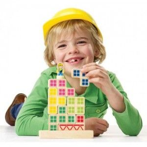 juguete educativo lógica de madera bill & betty bricks