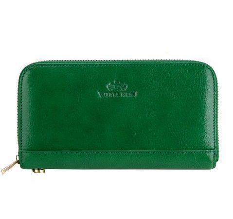 Zielony portfel damski z kolekcji Italy.