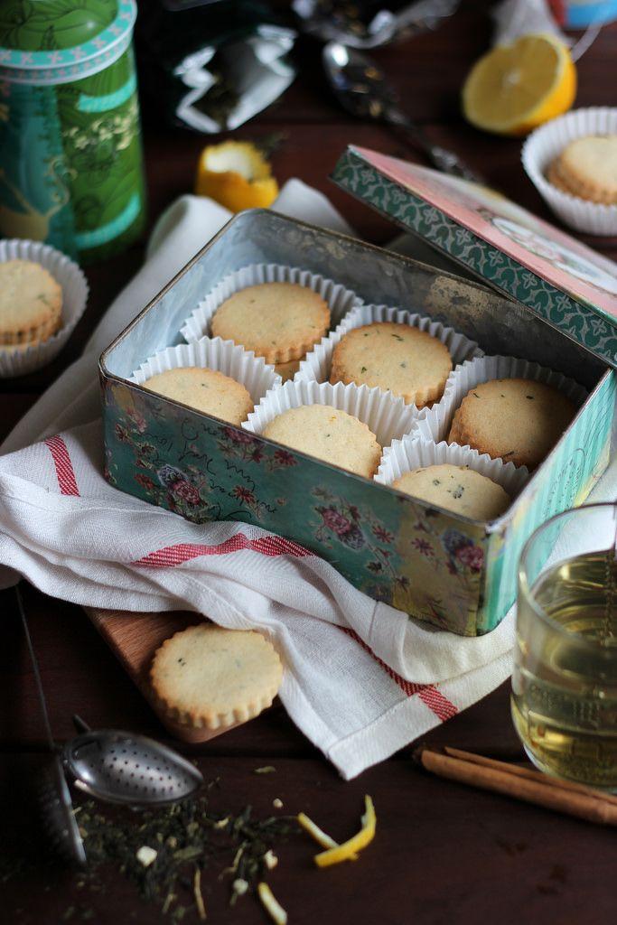 Green Tea lemon scented cookies ~ Rico sin Azúcar