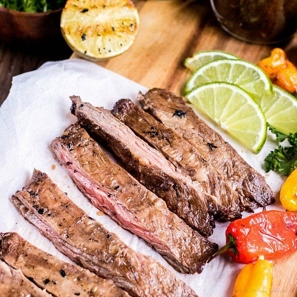 7UP Marinade is an easy way to add flavor to your skirt steak. Marinate your steak for a few hours in 7UP Marinade and then toss it on the grill for perfectly tender grill skirt steak every time!