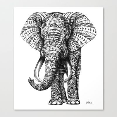 elephant art  http://society6.com/product/ornate-elephant_stretched-canvas#6=28