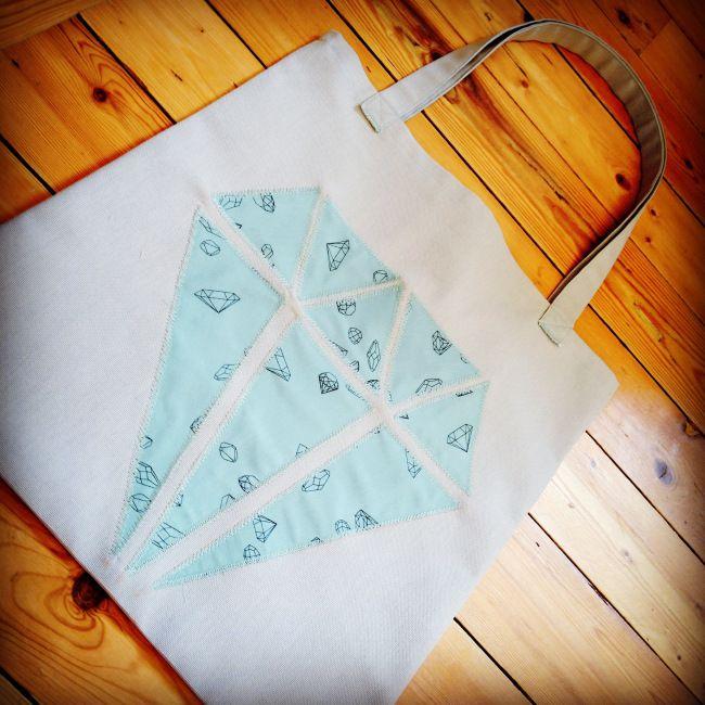 My Tote Bag / tissu ma rivière de diamants de Aime comme Marie