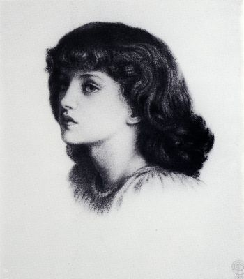 May Morris (1862-1938) painted by the Pre-Raphaelite artist, Dante Gabriel Rossetti. May was the youngest daughter of William Morris and Jane Morris (also Rossetti's model), a craftswoman, embroidery designer, editor and like her father, a socialist.