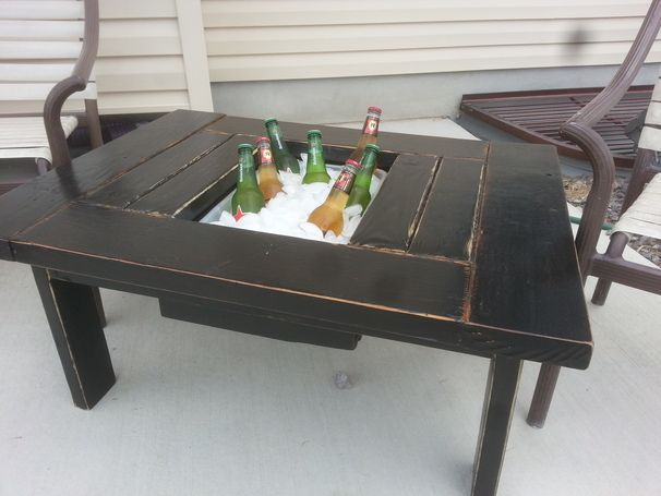 Best 25 mini cooler ideas on pinterest mini fridge in for Table with cooler in middle