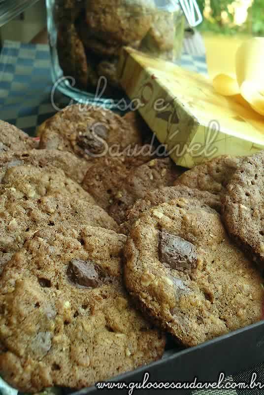 Cookies de Aveia e Chocolate Amargo » Doces e sobremesas, Receitas Saudáveis » Guloso e Saudável