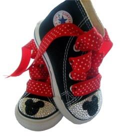 Swarovski Mickey mickey Converse-bling inverse, swarovski bling inverse, mickey mouse bling, chaussures mickey