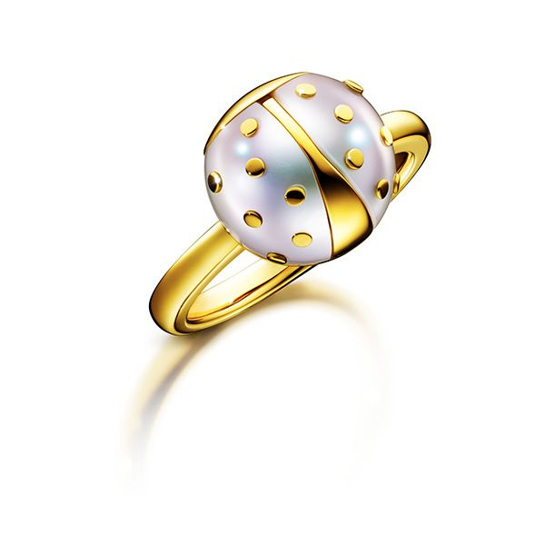 Landscape Sculpture Ring Tasaki Thakoon Panichgul  http://www.tasaki.co.jp/collections/landscape_sculpture/dots/RC-4571-YGK18/