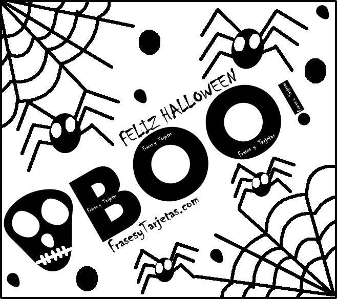Tarjeta de halloween de susto