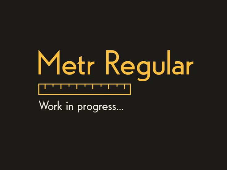 Metr Regular by Tomas Kopecny