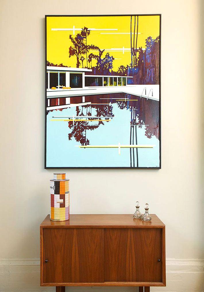 Винтажная мебель в дизайне таунхауса в Нью-Йорке