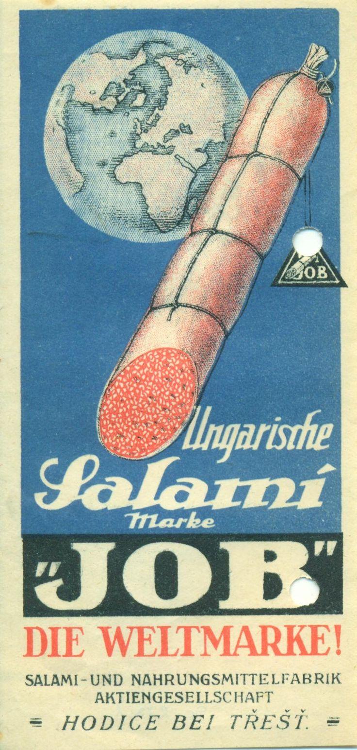 """Magyar Kereskedelmi és Vendéglátóipari Múzeum - """"""""JOB"""" magyar szalámi"""" (Egyszerre mind) (museum-digital)"""