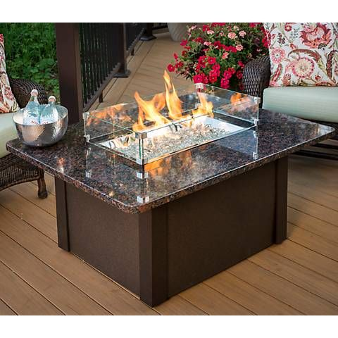 How amazing is this table top fire table?!?!? Grandstone Crystal Granite Table Top Fire Table