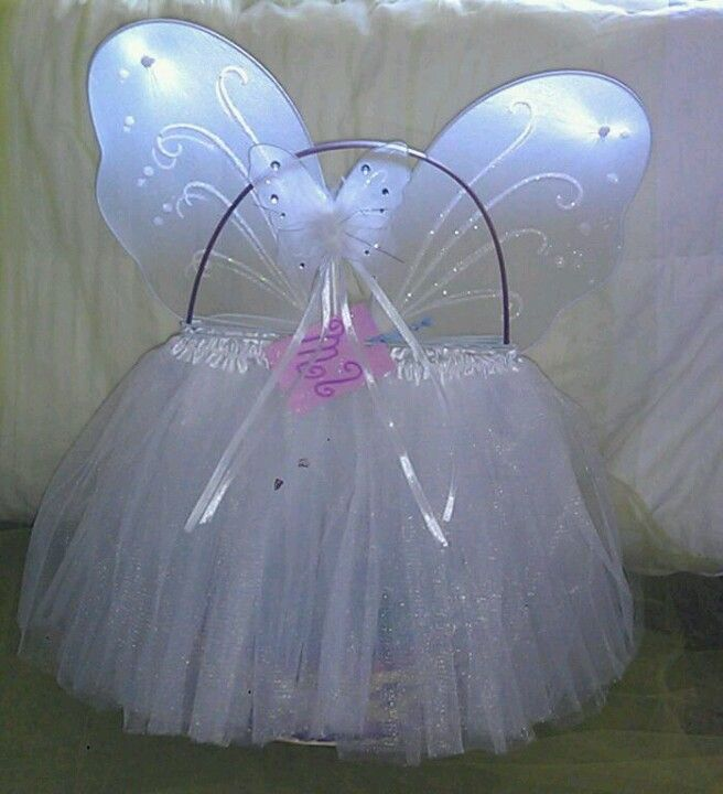 Easter basket idea. Tutu, wand and wings. It's almost spring!