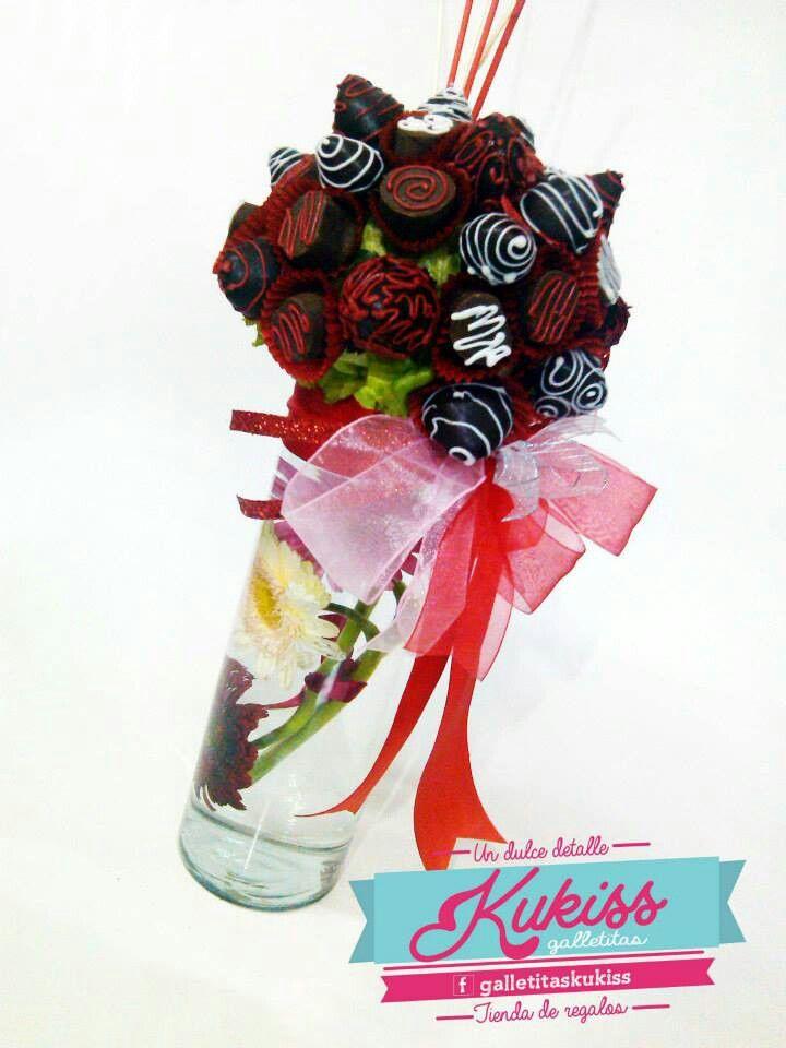 Ramo de fresas con chocolate