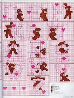Atelier Colorido PX: Monograma de ursinhos!
