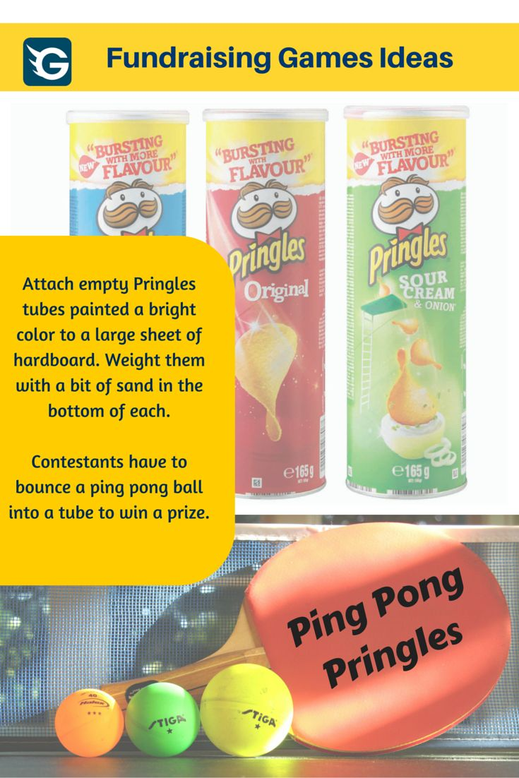 Ping Pong Pringles Fundraising Game! #fundraising #GoGetFunding Create your online fundraising campaign at http://gogetfunding.com/