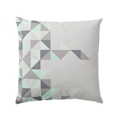 Bloomingville Kissen Triangles Mint/Grau