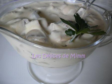 Sauce Archiduc (champignons, crème)