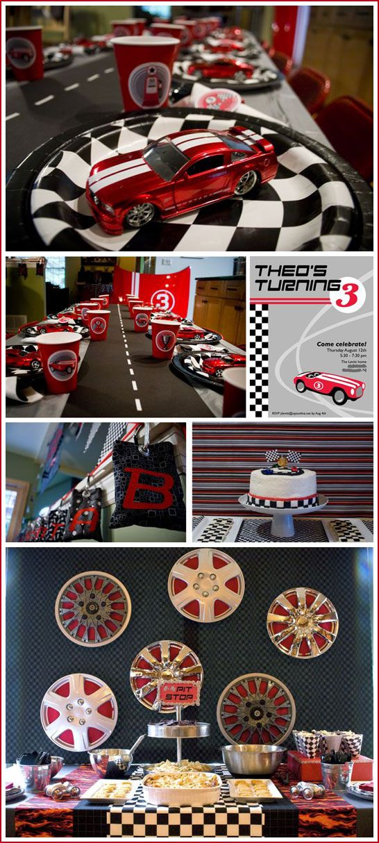 Best Racing Party Images On Pinterest Race Car Birthday Cars