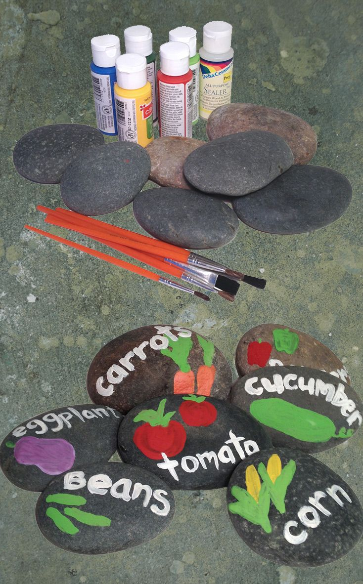 Garden art ideas for kids - Get The Kids Involved In The Garden With This Diy Garden Markers Project Here S An