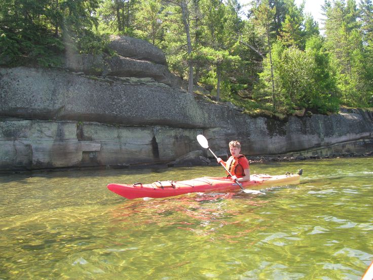 Kayaking around Davey Island