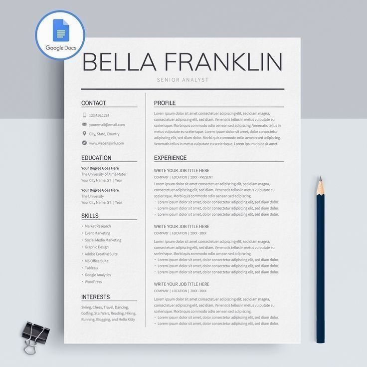 Description Now you can create a resume in minutes. Here's
