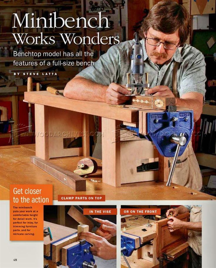 #2390 Mini Workbench Plans - Workshop Solutions