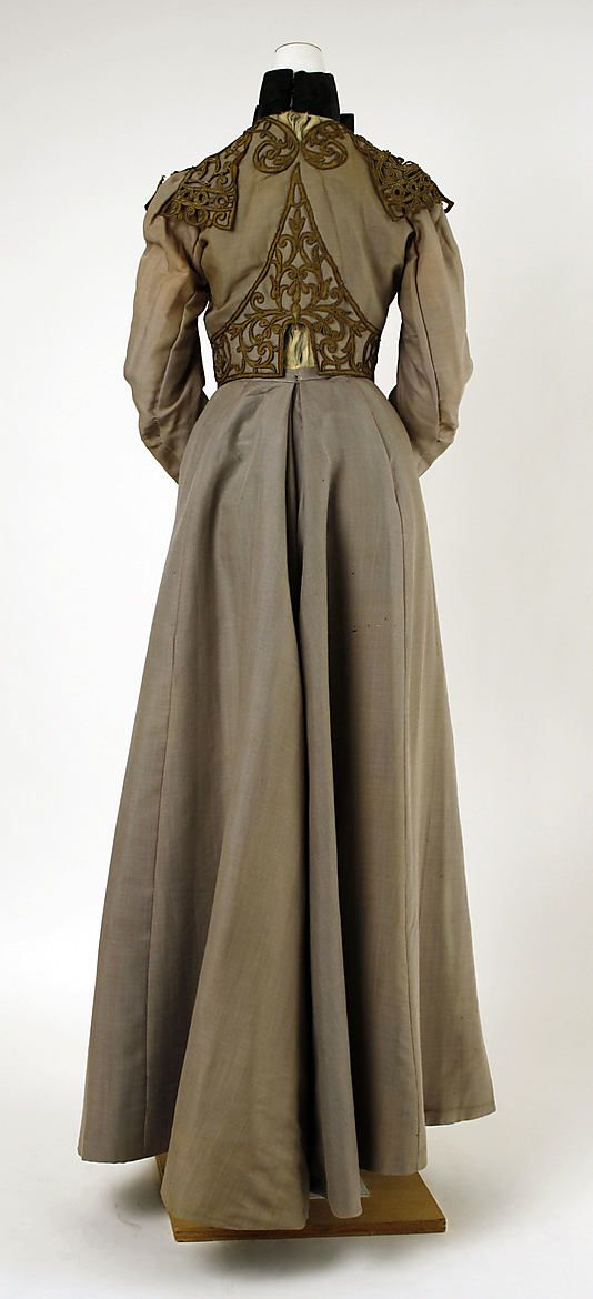 haute couture charles frederick worth walking dress gown