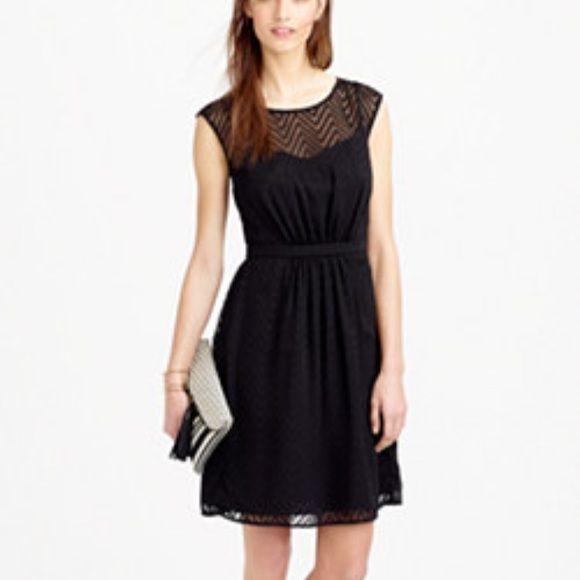 j. Crew ZIG ZAG dress black dress petite size 4P Only worn once, very pretty chevron pattern J. Crew Dresses Midi