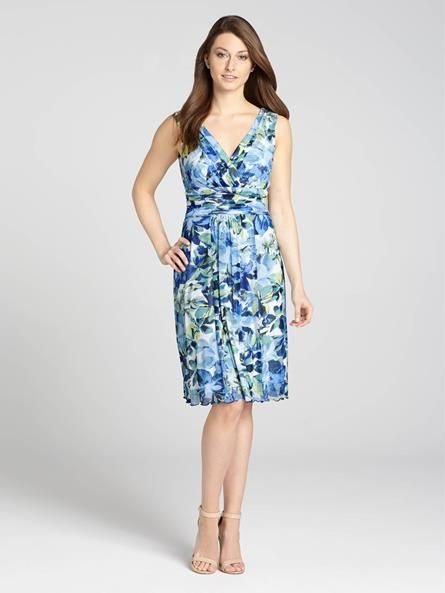 Look Spring-ready in our gorgeous floral print dress! Lightweight mesh keeps this style feeling easy and refined....3010101-0745