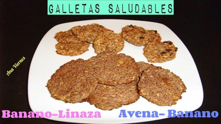 Receta Saludable |Galletas Saludables | Banano Avena y Linaza.