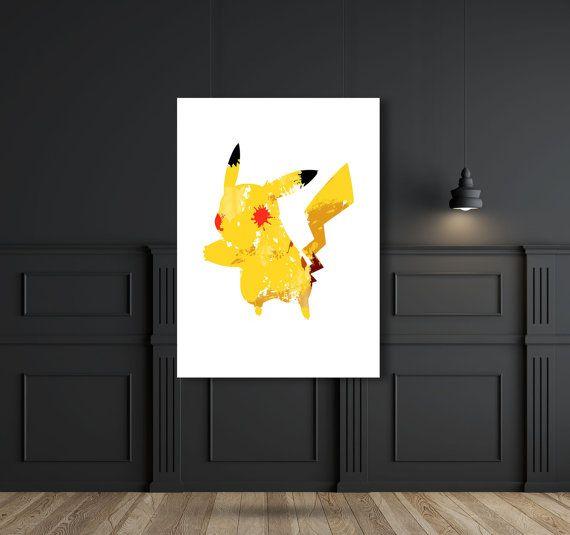 Pikachu  Wall art  Wall decor  Instant di SbarbySweetPrints