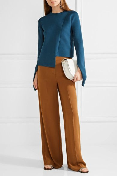 TIBI Asymmetric ribbed-knit sweater   @andwhatelse