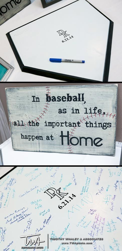 Perfect for a baseball couple!! We are doing this!