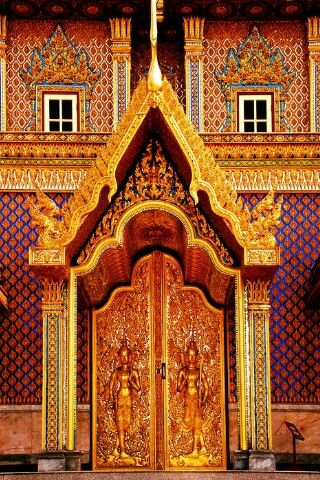Porta Thai - Keka - temple doors ~ Thank Uthai Thani Thailand ~ & 38 best Thai (Tayland) doors images on Pinterest | Windows Lever ...
