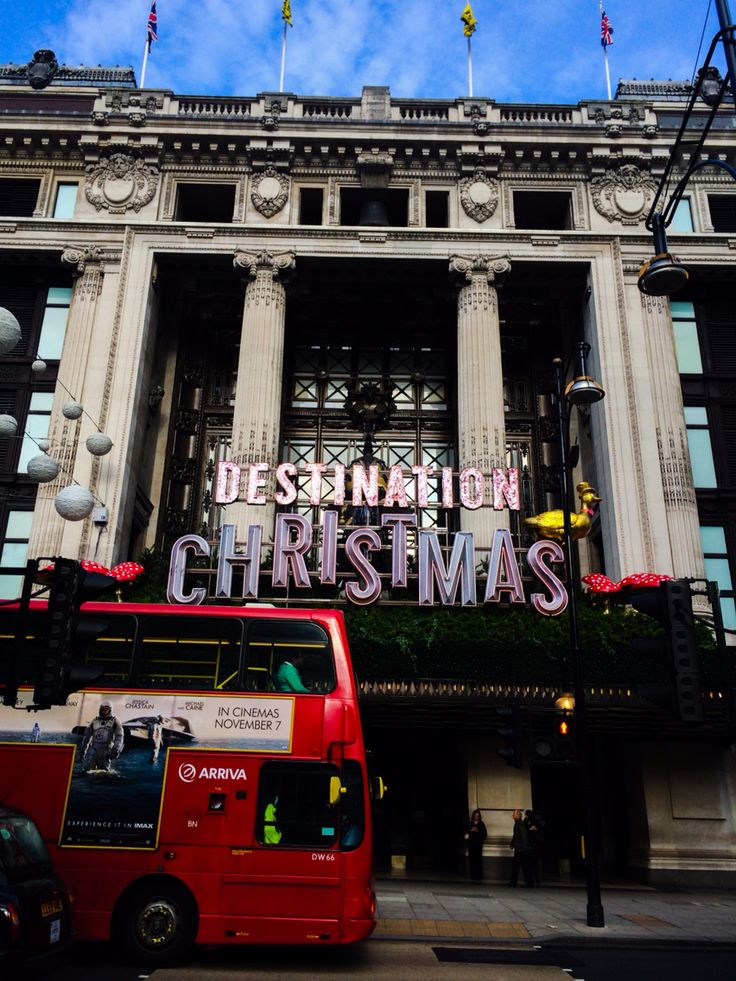 Selfridges London at Christmas