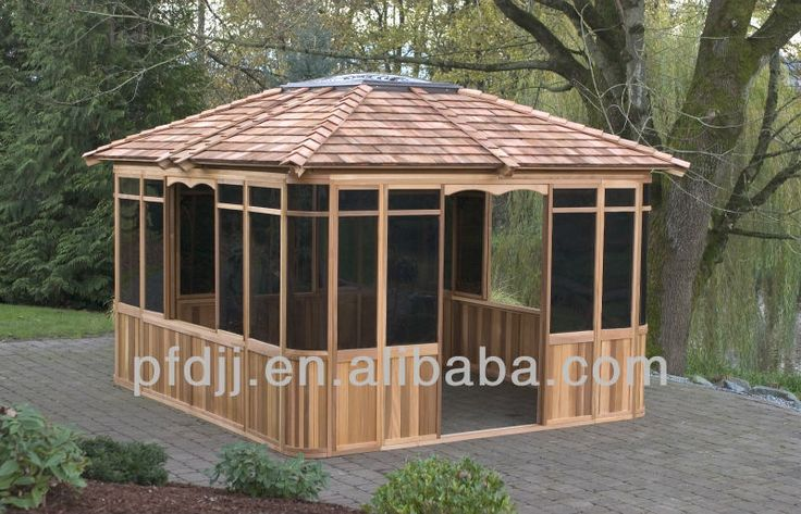 2014 manufacture wooden gazebos for sale $1350~$6800
