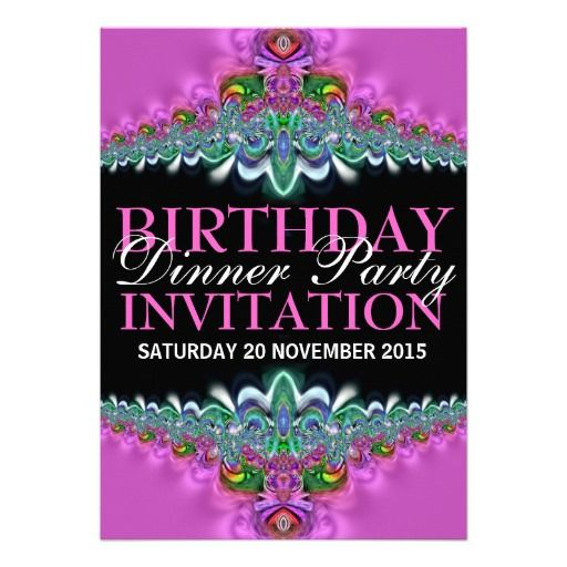 39 best Birthday Party – Birthday Dinner Party Invitations