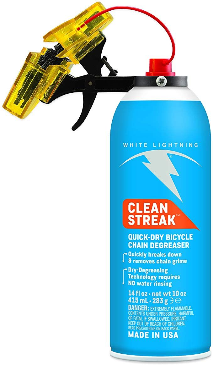 White Lightning Trigger Bicycle Chain Cleaner With 12 Ounce Clean